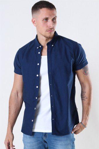 Johan Oxford Washed Skjorte Blue