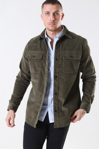 Jack & Jones Alfred Corduroy Skjorte Olive Night