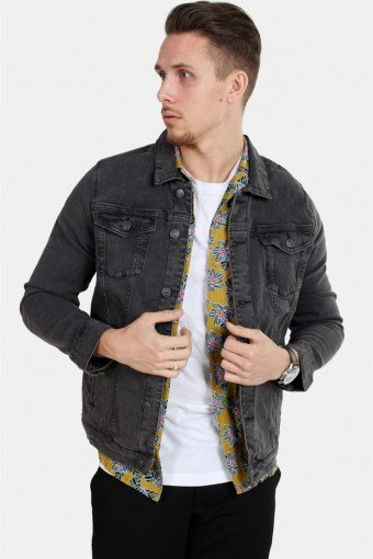 Kash Denim Jakke Grey