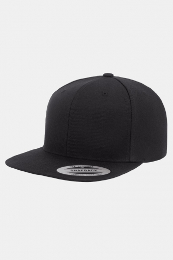Classic Snapback Cap Black