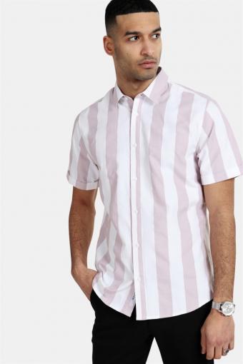 Travis SS Striped Thin Oxford Skjorte Violet Ice