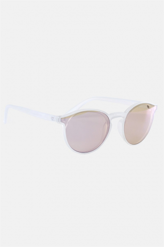 Fashion 1384 Solbrille Matt Transparent Clear Lens w/Blue Mirror