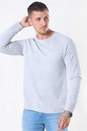 Jack & Jones Hill Crew Neck Strik Light Grey Melange