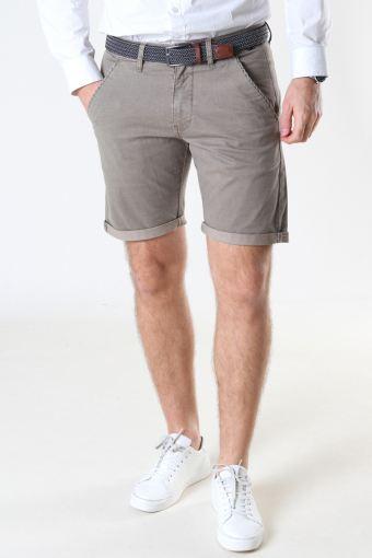 Louis Greige Shorts inkl. bælte