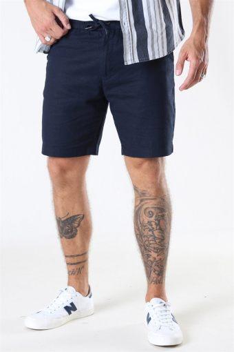 Barcelona Cotton/Linnen Shorts Navy