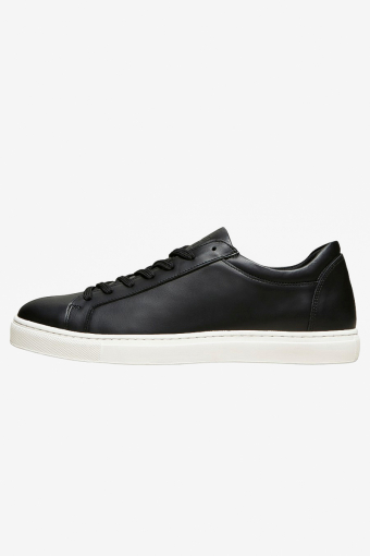 SLHEVAN LEATHER TRAINER B NOOS Black