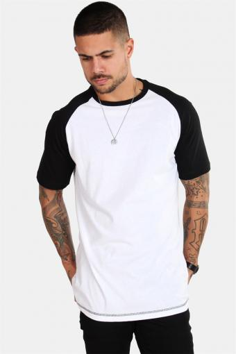 Raglan Tee White/Black