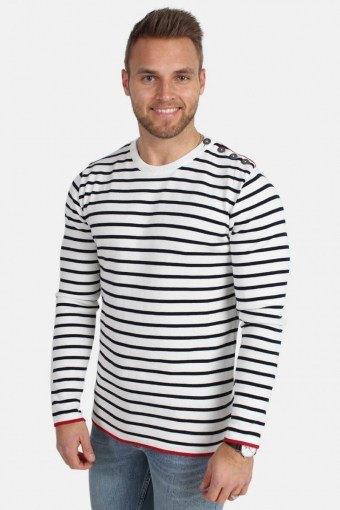 Oscar Stripe Strik Off White/Navy
