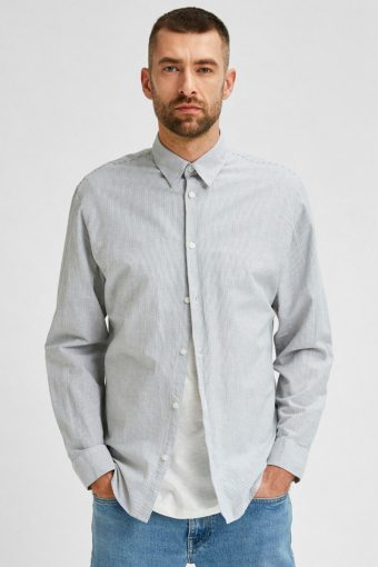 SLHSLIMNEW-LINEN SHIRT LS W NOOS Sea Spray Stripes