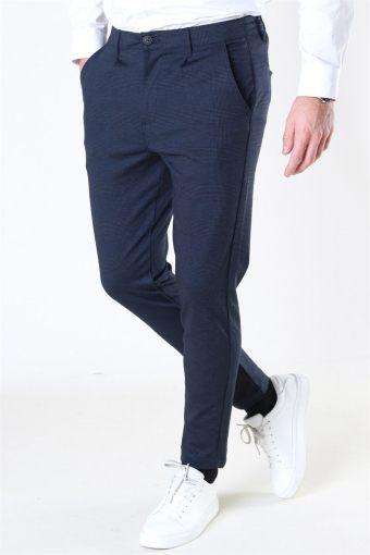 Club Texture Pants Navy Check