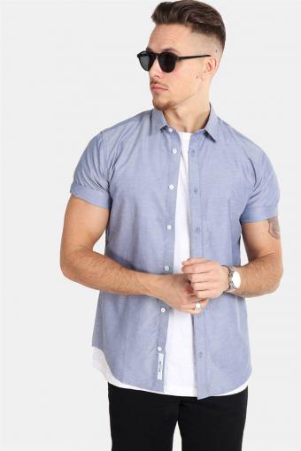 ravis SS Solid Skjorte Majolica Blue