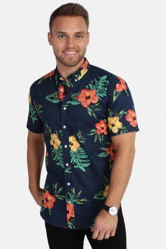 Johan Exotic S/S Shirt Orange/Green