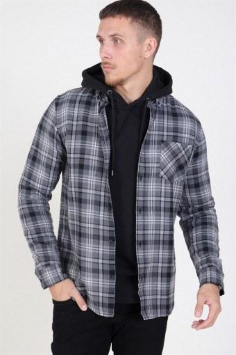 Arvid LS Check Skjorte Black