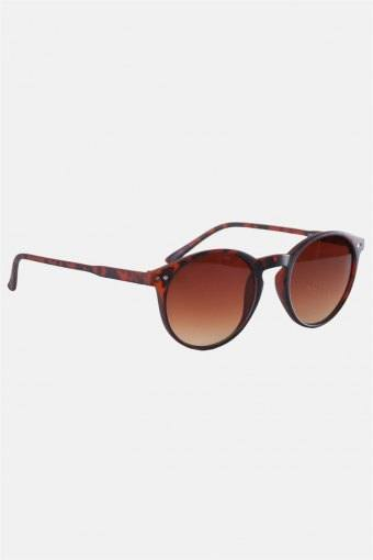 Fashion 1379 Panto Brown Havana Rubber Solbrille Brown Gradient