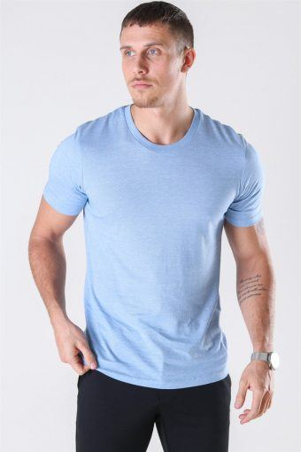 The Perfect Mel SS O-Neck T-shirt Campanula/Bright White