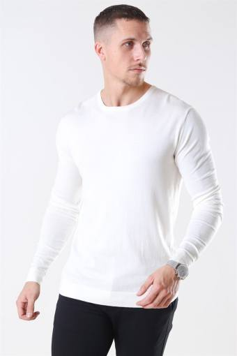 Tailored & Originals Mont Strik O-Neck Milky White