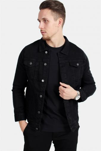 Kash Denim Jakke Black