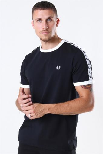 Taped Ringer T-Shirt Black