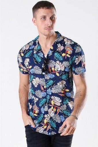 Brando S/S Cuba Tropic Skjorte Insignia Blue