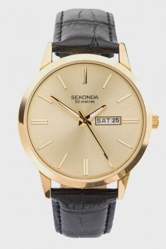 1838 Classic Leather Ur Black/Gold