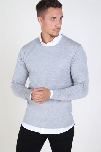 Tailored & Originals Mont Strik Light Grey Melange