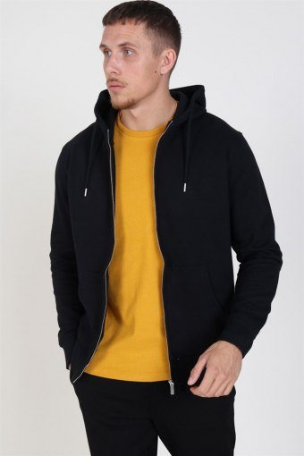 Organic Morgan Zip Sweat Black