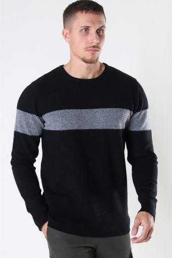 Toby Stretch Stripe Black/Grey Mel/Black