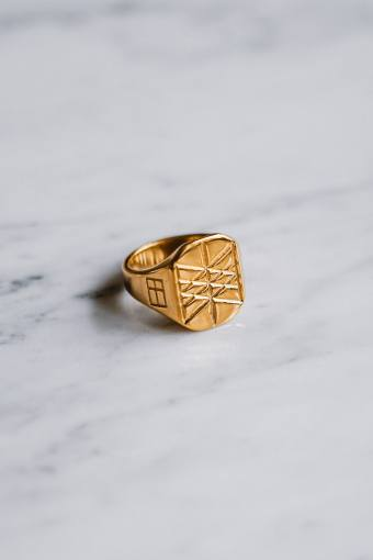 Web of Wyrd Signature Ring Guldtonet.