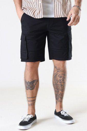 Cam Stage Cargo Shorts Black