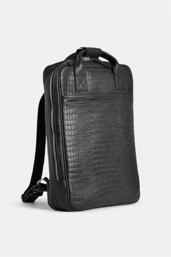 Dundee Backpack Black Croco