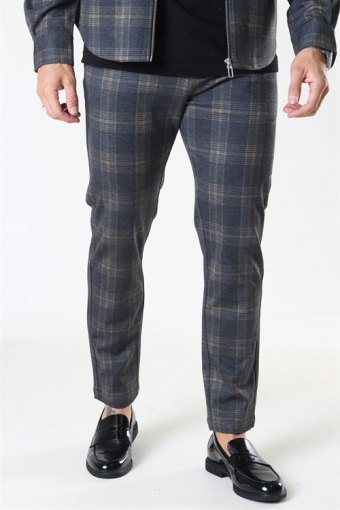 Milano Max Pants Dark Grey/Camel