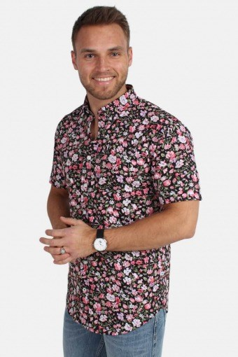 Johan Exotic S/S Shirt Pink/Green