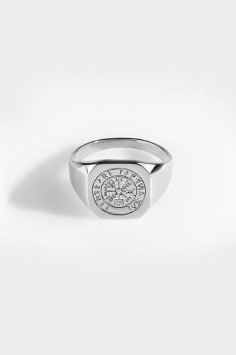 Vegvisir Signature Ring Silver