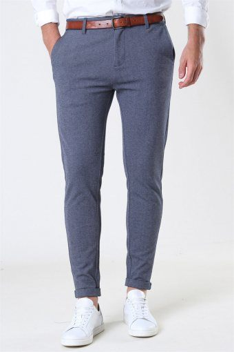 Prato Jersey Pants Denim Melange