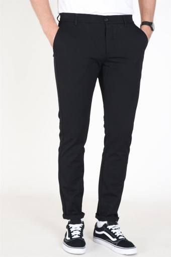 Steffen Twill Pants Black