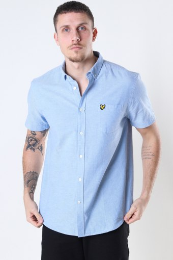 Short Sleeve Light Weight Slub Oxford Shirt Riviera