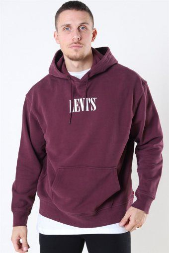 Relaxed Graphic Hoodie Bordeaux