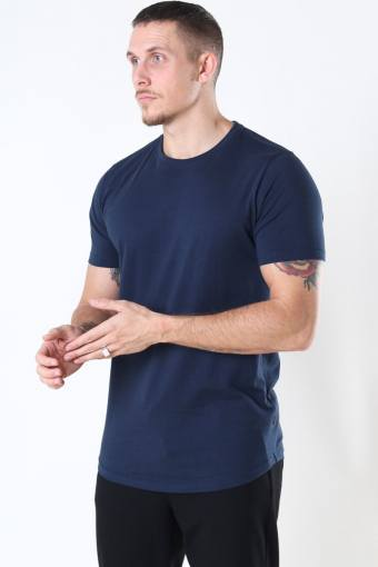 Dew SS Long Organic T-shirt Insignia Blue