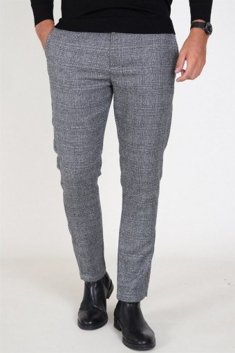 Slim Barro Bukser Medium Grey Melange