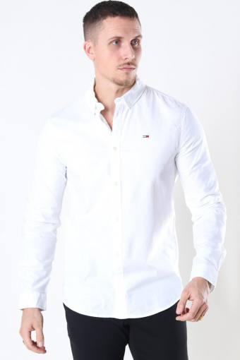 Tommy Jeans Slim Stretch Oxford Skjorte White