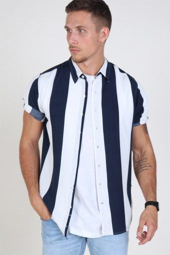 Navy White Strip