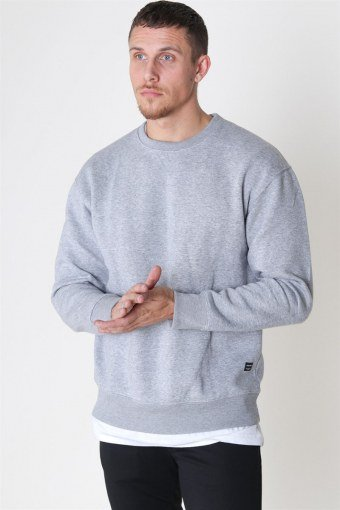 Jack & Jones Soft Sweat Crew Neck Light Grey Melange