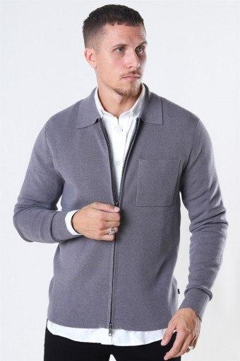 Tailored & Originals Rasmus Knit Light Grey Melange