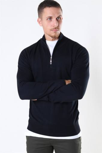 Argento Half Zip Strik Black