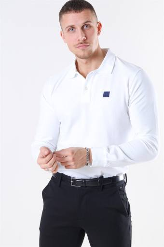Piece LS Polo White/Navy