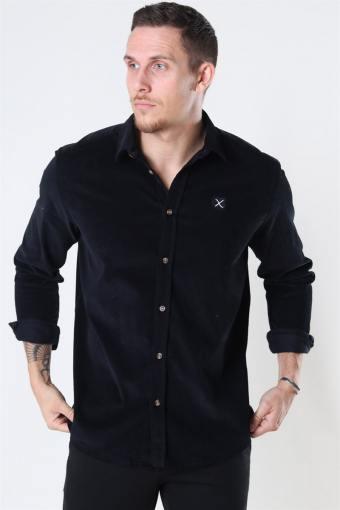 Clean Cut Corduroy Shirt LS Black