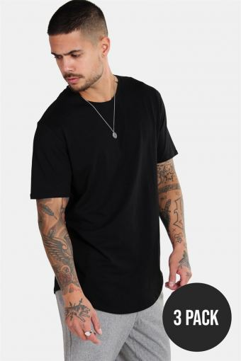 Matt Longy SS T-shirt 3-pack Black