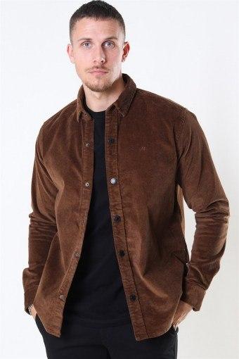 John Corduroy Overshirt Dusty Brown