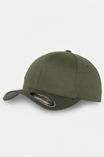 Flexfit Wooly Combed Orginial Cap Olive