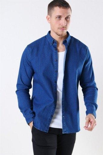 Johan Denim Skjorte Dark Blue